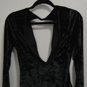 New - Victoria's Secret Crushed Velvet Bodysuit
